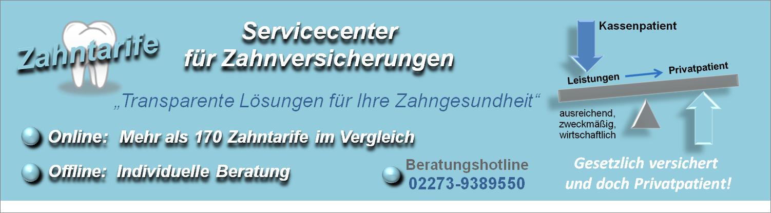 Zahntarife- Servicecenter für Zahnversicherungen
