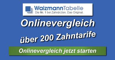 Waizmann Tabelle- meistgenutzter Onlinerechner für Zahntarife